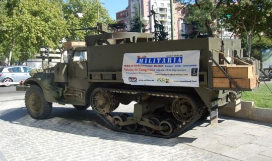 half track M3 en la feria del coleccionismo militar No Solo Militaria